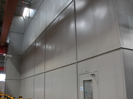 Full Height Single Skin Steel Partitioning