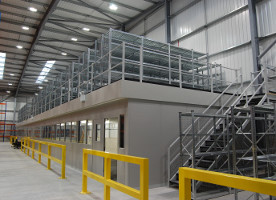 Mezzanine with Offices and Shelving